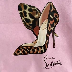 Stilettos pink shopping tote bag